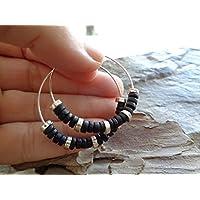 ✿ CERAMIC BOHO TRIBAL CREOLS ✿ ✿ Pendientes estilo Bali