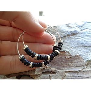 ✿ KERAMIK BOHO TRIBAL CREOLEN ✿ Ohrringe im Bali Stil