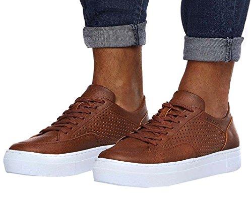 LEIF NELSON Herren Schuhe Freizeitschuhe elegant Winter Sommer Freizeit Schuhe Männer Sneakers Sportschuhe Laufschuhe Halbschuhe LN154; Größe43, Braun