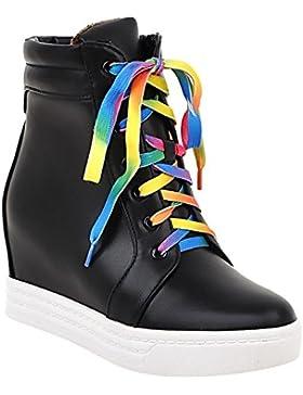 MissSaSa Donna Scarpe col Tacco Metà Casual e Plateau Shoes
