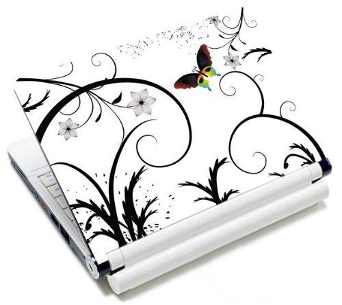 MySleeveDesign Notebook Skin Aufkleber Folie Sticker für Geräte der Größe 10,2 Zoll / 11,6 - 12,1 Zoll / 13,3 Zoll / 14 Zoll / 15,4 - 15,6 Zoll mit VERSCH. DESIGNS - Colored Butterfly