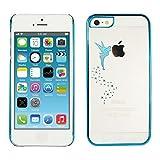 kwmobile Cover per Apple iPhone SE / 5 / 5S - Custodia Protettiva in Silicone TPU Cristallo Trasparente - Back Cover Case Cellulare Blu/Trasparente