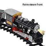 Depruies Nachbildung elektrischer Retro-Eisenbahnen Kinder Spielzeug Classic Track Serie Modellset Kinder Spielzeugauto mit Licht und Musik für Kinder