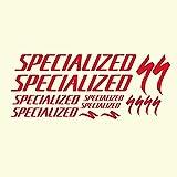 CECILIAPATER Specialized S-Works Fahrradrahmen-Aufkleber, spezieller Fahrradrahmen, Vinyl-Aufkleber, für MTB DH Radfahren, Rennen, Rid