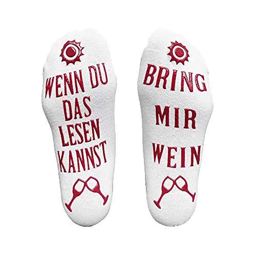 HCFKJ Socken, Lustiger Wein Socken Wein Geschenk für Weinliebhaber Weihnachten Valentinstag Geschenkidee (MUL)