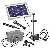 Esotec 101775 Set Pompa per laghetto solari con Batteria