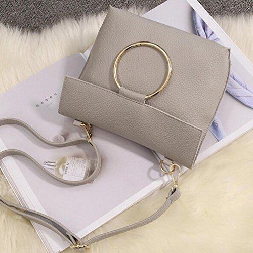 BZLine® Frauen Damen Tote Taschen Kreuzkörper Umhängetasche Handtasche Tote, 24cm *19cm *9cm Grau
