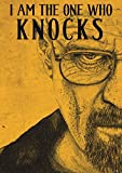 Avercart Motivational - Inspirational Poster I Am The One Who Knocks - Walter White - Size: A4 (21x29.7 cm) Unframed