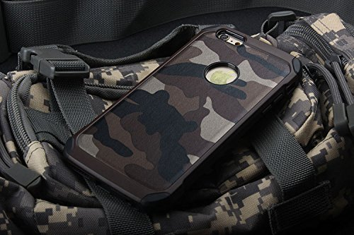 "PC TPU Hard Back Military Army Shockproof Case Cover for Apple iPhone 6 4.7"" 6S"