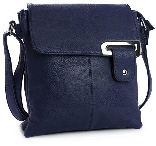 Big Handbag Shop - Borsa a tracolla donna (Navy medio)