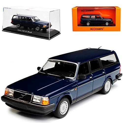 Minichamps Volvo 240 GL Break Kombi Blau 1974-1993 1/43 Maxichamps Modell Auto