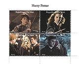 Stampbank Harry Potter film 2014 feuille de timbres pour les collectionneurs avec Harry, Ron et Hermione Granger - 4 timbres/Mali