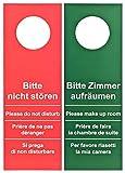 200 Stück Türschild Hotel Bitte nicht stören - Zimmer aufräumen rot / grün (GROSSE AUSFÜHRUNG - 28cm lang)