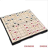 Haolv Xiangqi Game Set mit Magnetic Folding Board (Schachbrett 25 x 25 x 2 cm), Chinesisches Schachspiel Travel Game Set Xiangqi