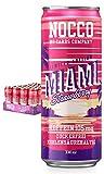 NOCCO BCAA Miami Strawberry 24 x 330ml | Proteinreiches Energy - Getränk ohne Zucker | No Carbs Company | Vitamin- und Koffein-Boost