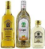 Geschenkidee Krupnik Bestseller: Old Krupnik Liqueur + Krupnik Haselnuss + Krupnik Holunder in der Probiergröße   Polnischer Traditionswodka   Absoluter Klassiker   2x 0,5 Liter, 1x 0,1 Liter