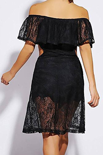 E-Girl femme Noir SY21642-2 Robe millésime Noir