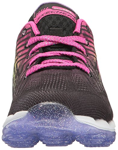Skechers Kids Air Athletic Sneaker (Little Kid/Big Kid) Black/Multi Knit