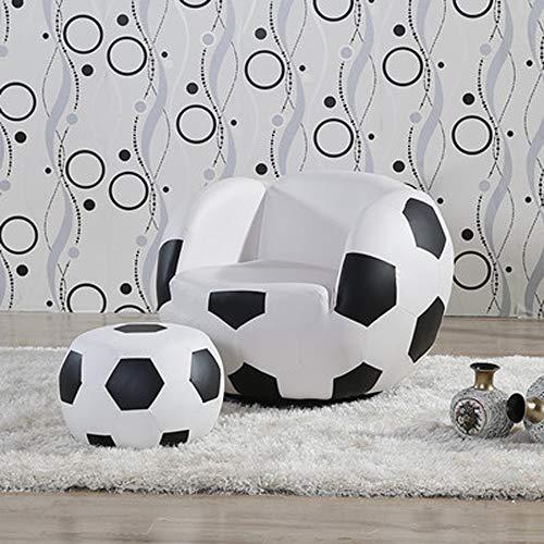 ZYDSD Lazy Couch Kinder Fußball Stuhl Sessel Sofa Und Hocker Sport Theme Fußstütze Hocker, Wohnzimmer (Color : B1) (Und Fußball-sessel Hocker)