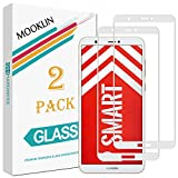 MOOKLIN Huawei P Smart Panzerglas Bildschirmschutzfolie,[2 Stück] [Volle Abdeckung] [Easy Install Kit] [Anti-Kratzen] Vollständige Abdeckung Handy Schutzfolie für Huawei P Smart - Weiß