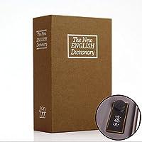 Preisvergleich für Abenily Münzen-Spardose-Geschenkbox Simulierte Englisch Wörterbuch Sparschwein Passwortsperre Safe (Gelb)