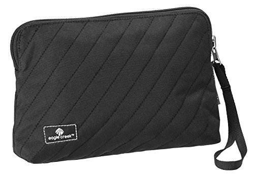 Eagle Creek Kosmetikbeutel Pack-It Original Quilted Reversible Wristlet Wendetasche für Hygieneartikel, black Black Micro Case