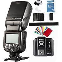 Godox TT685 S TTL Maestro-esclavo GN60 2.4G Transmisión HSS 1 / 8000S Flash Speedlite+Godox X1T-S Transmisor para Nikon para Sony
