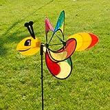 Windspiel - Magic Butterfly - UV-beständig und wetterfest - Windrad: Ø38cm, Motiv: 46x18cm, Gesamthöhe: 103cm - inkl. Fiberglasstab und Bodendübel (Butterfly)