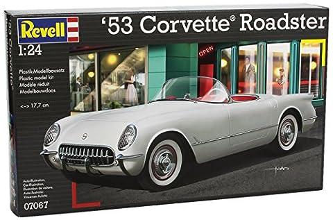 Revell Modellbausatz Auto 1:24 - '53 Corvette Roadster im Maßstab 1:24, Level 4, originalgetreue Nachbildung mit vielen Details, 07067
