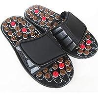 Fußmassage-Pantoffel, Akupressur-Fuß Massager-Zapfen-Sandelholz-Pantoletten (schwarz) preisvergleich bei billige-tabletten.eu