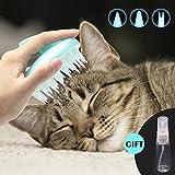 Brosse en silicone ultra-douce pour chat par CELEMOON - Avec pointes en silicone souples - Lavable - Pour le toilettage, le massage et le bain - Pour les poils longs et courts - Sans danger et sans égratignures
