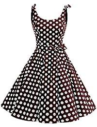 bbonlinedress 1950er Vintage Polka Dots Pinup Retro Rockabilly Kleid  Cocktailkleider b3dd1a8afe