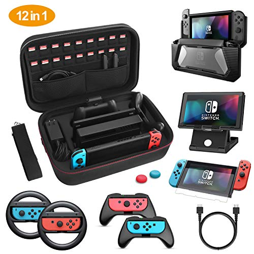 HEYSTOP Kit Accesorios 12 1 Nintendo Switch
