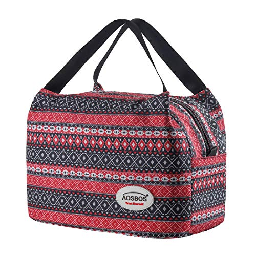 Aosbos Sac Isotherme Femmes Lunch Bag Partable Cabas...