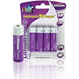 lots de 4 batteries lithium 1.5V AA, LR6, Mignon, Penlite