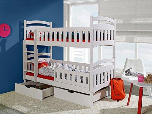 Etagenbett Alain Kiefer Massiv : ᑕ❶ᑐ etagenbett weiß ▻ bestseller für ihr schlafparadies ✓das