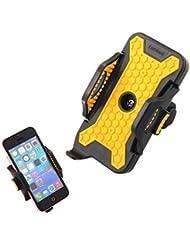 Tera Support universel de VTT, vélo, moto pour GPS, téléphone portable iPhone 5S/5/4S/4, Samsung Galaxy, Blackberry, HTC, etc. (Jaune et noir)