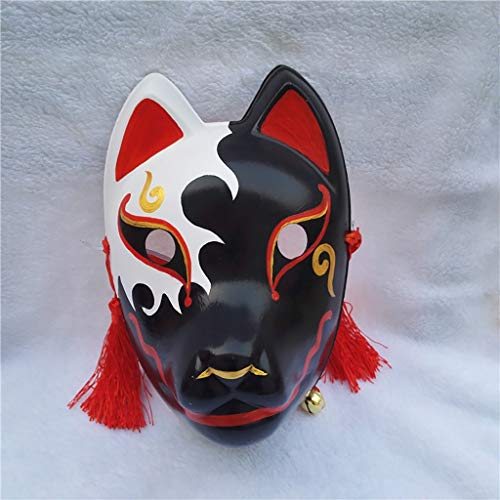 Mascarade Anime Maskerade Maske, Green Dance Performance Maske, PVC Vollmaske, handbemalte japanische Cosplay Fuchs, Wiederverwendbare Maske (Color : H) (Masken Zu Kaufen Maskerade)