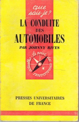 La conduite des automobiles par Rives Johnny
