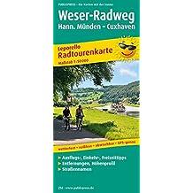 Weser-Radweg: Leporello Radtourenkarte mit Ausflugszielen, Einkehr- & Freizeittipps, wetterfest, reissfest, abwischbar, GPS-genau. 1:50000 (Leporello Radtourenkarte / LEP-RK)