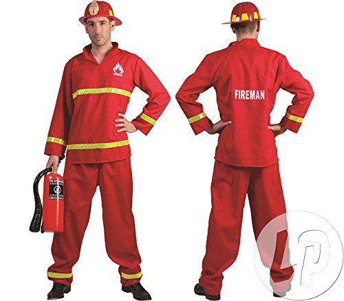 Pierro´s Kostüm Herrenkostüm Feuerwehrmann Paul Größe - Funny Kostüm Feuerwehrmann