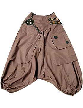 Xeira  Pantalones Harem Oriental Hippie/Pantalones Aladdin/Pantalones de Bomba para Hombres y Mujeres