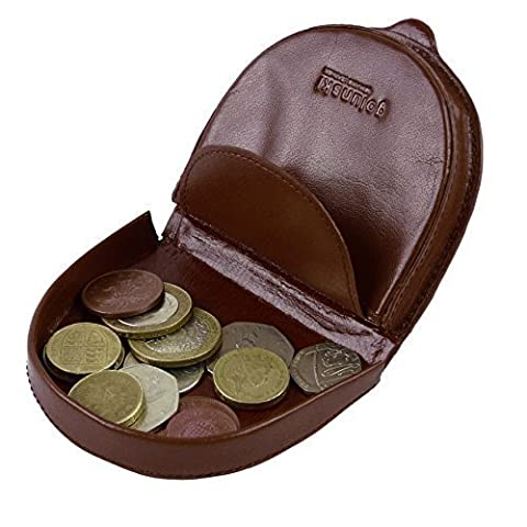 Mens Gents Top Quality LEATHER Coin Tray by Golunski Purse Wallet 2 colours (Tan)