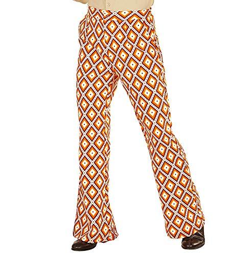 Retro Herren Hose mit und ohne Muster Disco Kostüm Siebziger Schlager, Größe:L/XL, Farbe:Rhombus ()