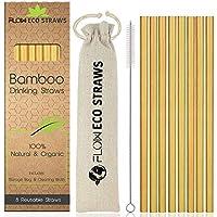 Pajitas de bambú reutilizables 100% naturales, biodegradables, respetuosas con el medio ambiente,