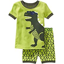 "babyspace dinosaurio ""Boys '2piezas 100% algodón corto pijama talla 2T-7T"