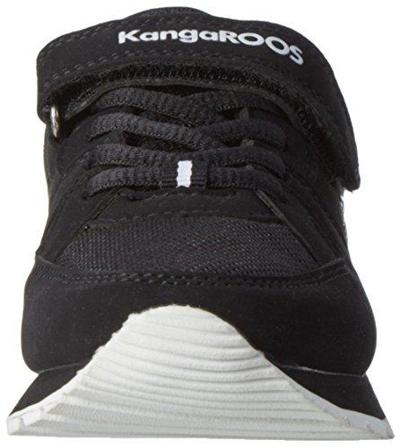Kangaroos K-Jog VI, Chaussons d'intérieur Mixte Enfant - Noir - Noir (Noir/Blanc), 31 EU