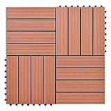 tuduo WPC Fliesen Set 111Quadratmeter braun Größe 30x 30cm