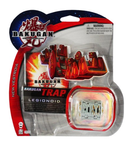 Bakugan B2 Vestroia Grey Legionoid Trap with 1 Ability Card and 1 Metal Gate Card