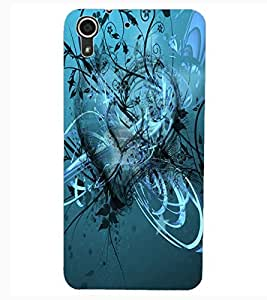 ColourCraft Love Heart Design Back Case Cover for HTC DESIRE 626